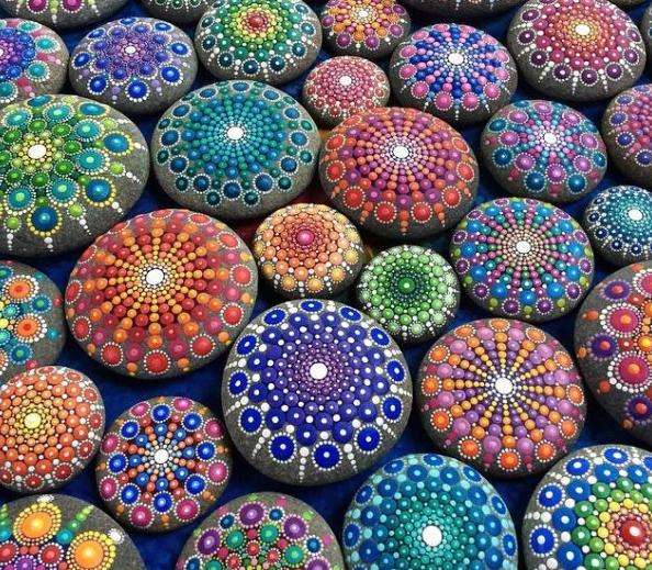 Galet multicolor